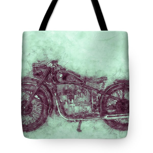 Bmw R32 - 1919 - Motorcycle Poster 3 - Automotive Art Tote Bag