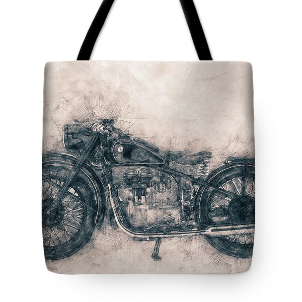 Bmw R32 - 1919 - Motorcycle Poster - Automotive Art Tote Bag
