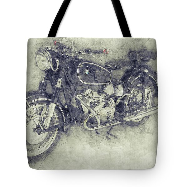 Bmw R60/2 - 1956 - Bmw Motorcycles 1 - Vintage Motorcycle Poster - Automotive Art Tote Bag