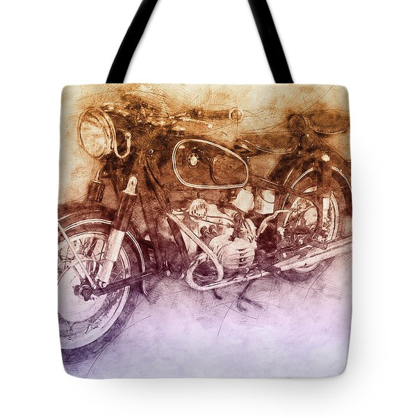 Bmw R60/2 - 1956 - Bmw Motorcycles 2 - Vintage Motorcycle Poster - Automotive Art Tote Bag