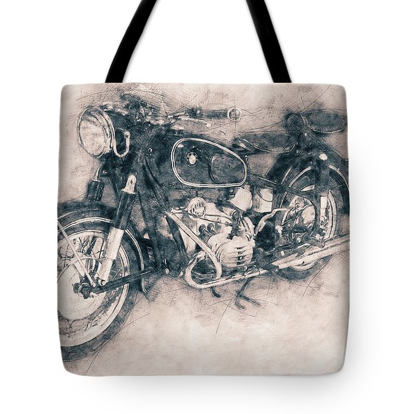 Bmw R60/2 - 1956 - Bmw Motorcycles - Vintage Motorcycle Poster - Automotive Art Tote Bag