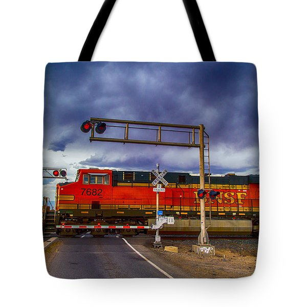 Bnsf 7682 Crossing Tote Bag