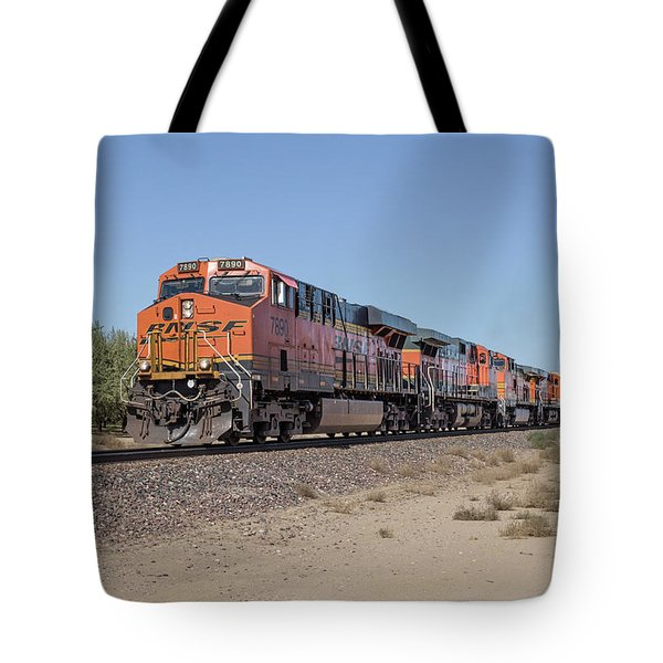 Tote Bag featuring the photograph Bnsf7890 by Jim Thompson