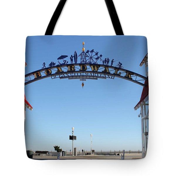 Boardwalk Arch At N Division St Tote Bag
