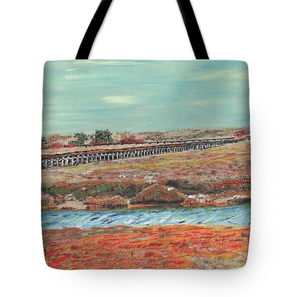 Boardwalk At Sandwich Ma Tote Bag
