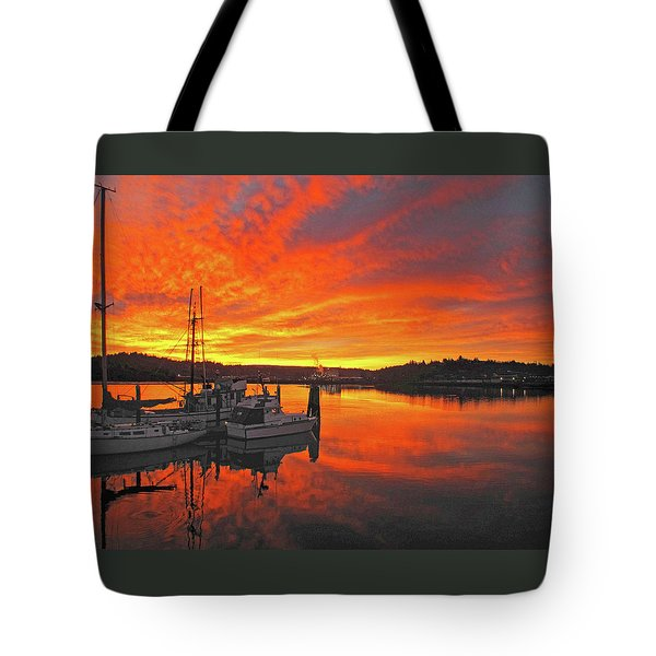 Tote Bag featuring the photograph Boardwalk Brilliance With Fish Ring by Suzy Piatt
