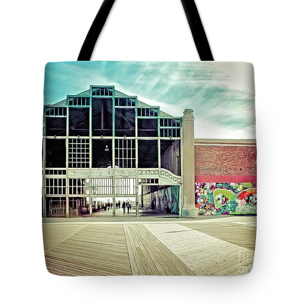 Tote Bag featuring the photograph Boardwalk Casino - Asbury Park by Colleen Kammerer