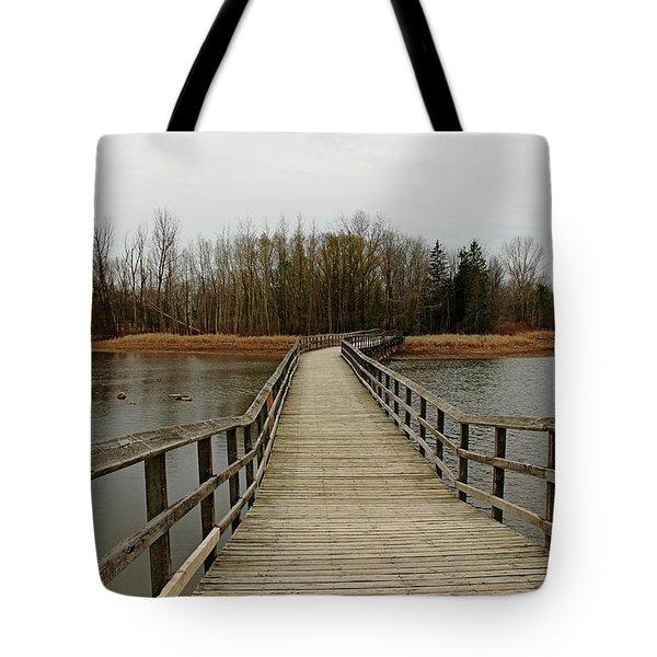 Boardwalk Tote Bag by Debbie Oppermann