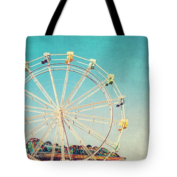 Boardwalk Ferris Wheel Tote Bag by Melanie Alexandra Price