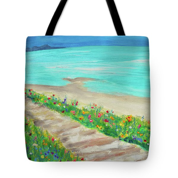 Boardwalk In Carmel Tote Bag