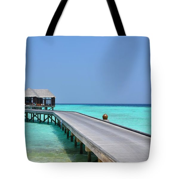 Boardwalk In Paradise Tote Bag