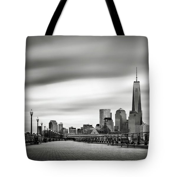 Boardwalk Into The City Tote Bag by Eduard Moldoveanu