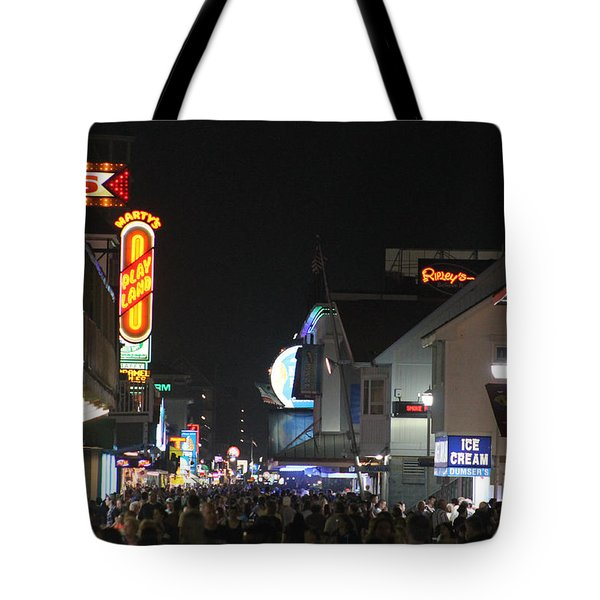 Boardwalk Night Lights Tote Bag