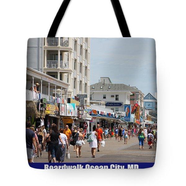 Boardwalk Ocean City Md Tote Bag by Robert Banach