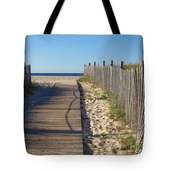 Boardwalk On The Cape Tote Bag