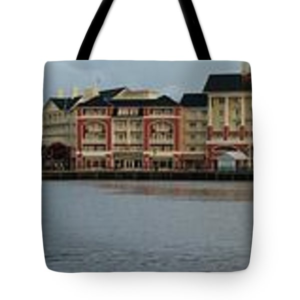 Boardwalk Panorama Walt Disney World Mp Tote Bag