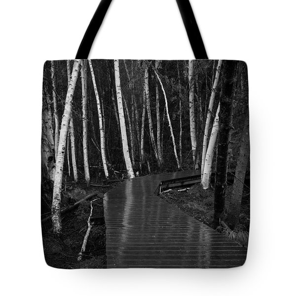 Boardwalk Through The Forest Tote Bag