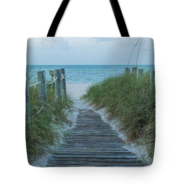 Tote Bag featuring the photograph Boardwalk To The Beach by Kim Hojnacki