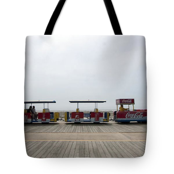 Boardwalk Tram Tote Bag