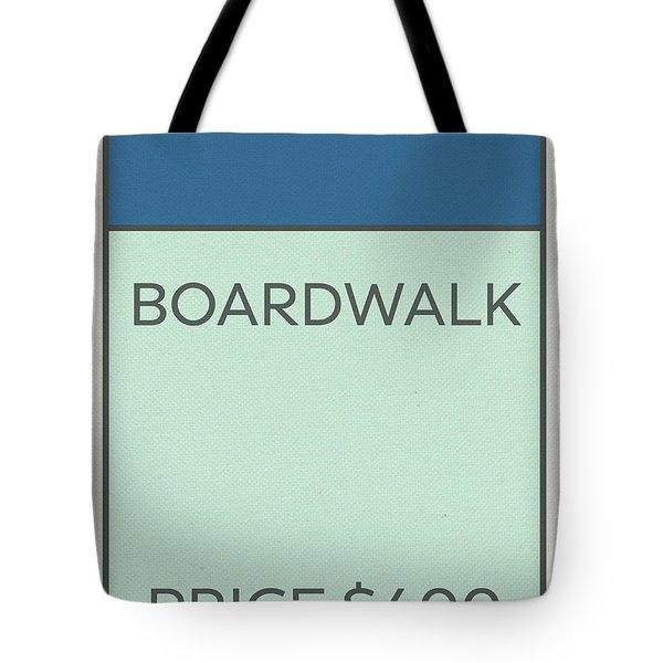 Boardwalk Vintage Monopoly Board Game Theme Card Tote Bag