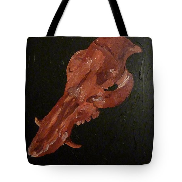 Tote Bag featuring the painting Boar's Skull No. 1 by Joshua Redman