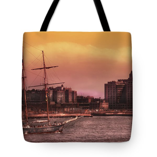 Boat - Ny - The Clipper  Tote Bag by Mike Savad