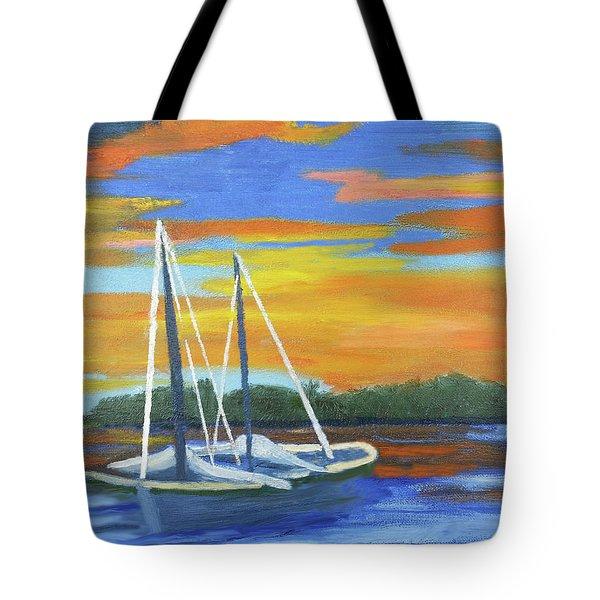 Boat Adrift Tote Bag