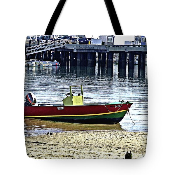 Boat At The Beach Provincetown Tote Bag