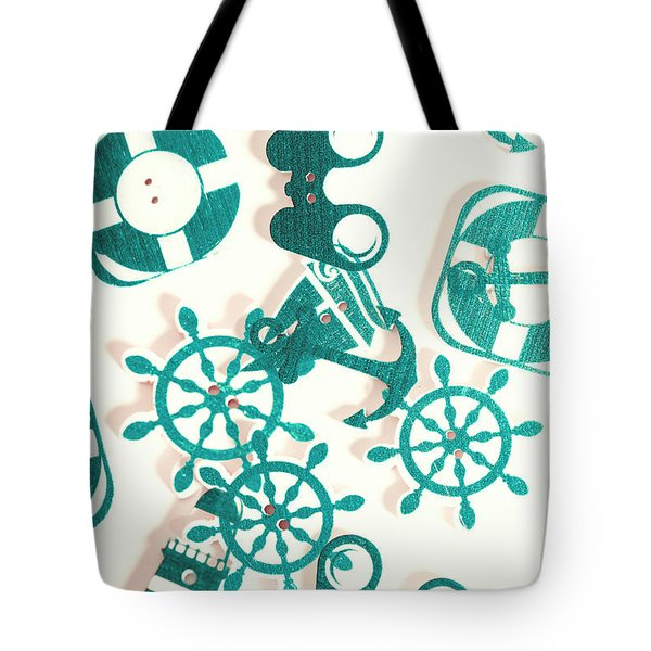 Boat Button Harbour Tote Bag
