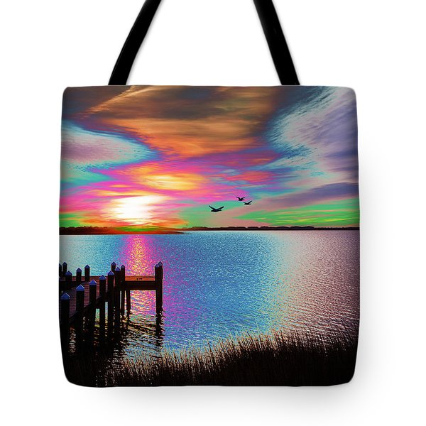 Boat Dock 2 Tote Bag
