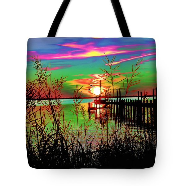Boat Dock 3 Tote Bag