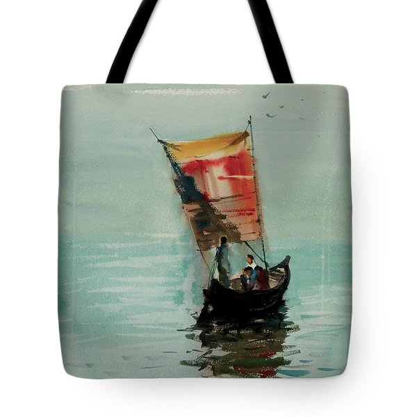 Boat Tote Bag by Helal Uddin