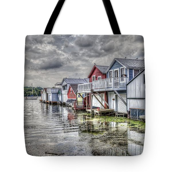 Boat Houses In The Finger Lakes Tote Bag