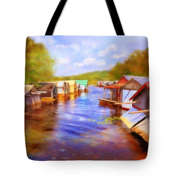 Boat Houses Tote Bag