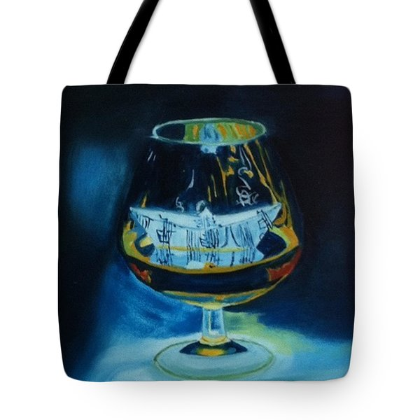 Boat In A Glass Tote Bag by Rod Jellison