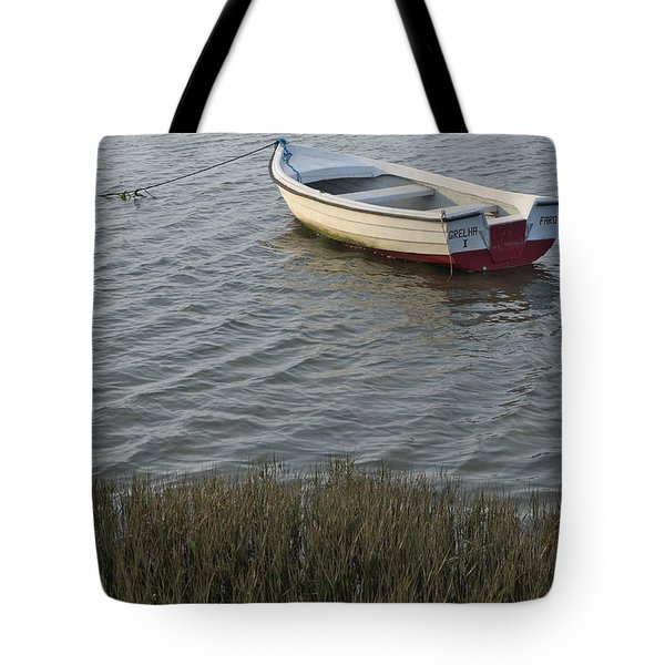 Boat In Ria Formosa - Faro Tote Bag by Angelo DeVal