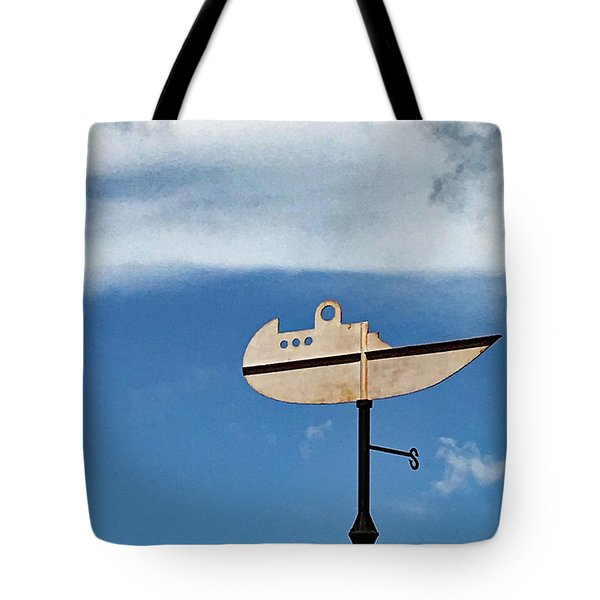 Boat In The Clouds Tote Bag
