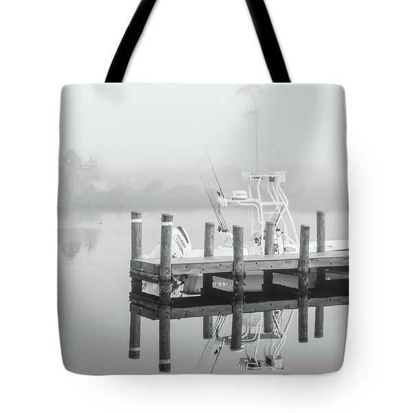 Tote Bag featuring the photograph Boat In The Sounds Alabama  by John McGraw