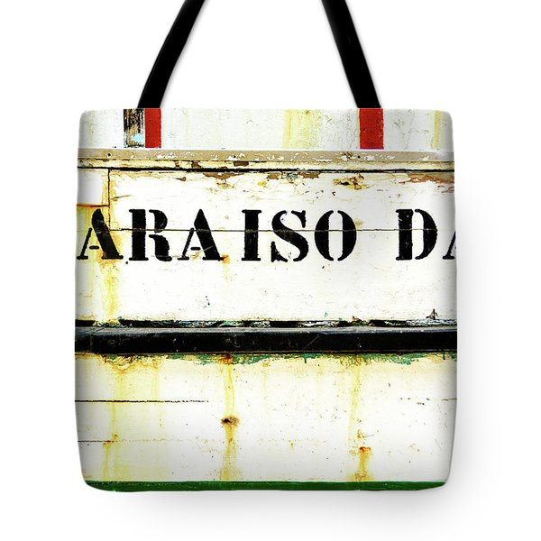 Tote Bag featuring the photograph Boat Letters by Marion McCristall
