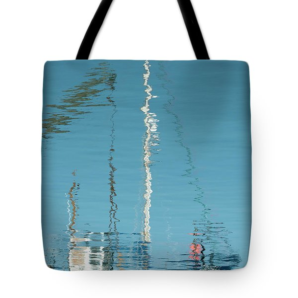 Tote Bag featuring the photograph Boat Of Ripples by Wendy Wilton