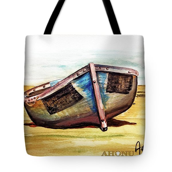 Boat On Beach Tote Bag
