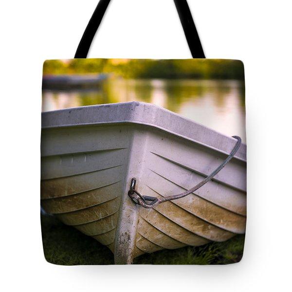 Boat On Land Tote Bag