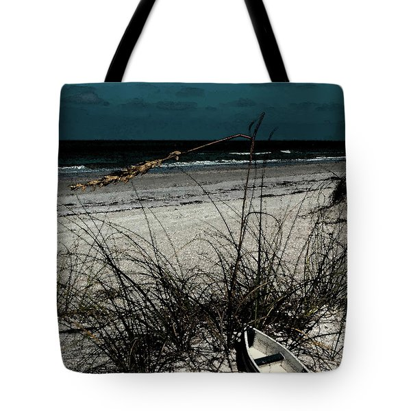 Tote Bag featuring the photograph Boat On The Beach by Randy Sylvia