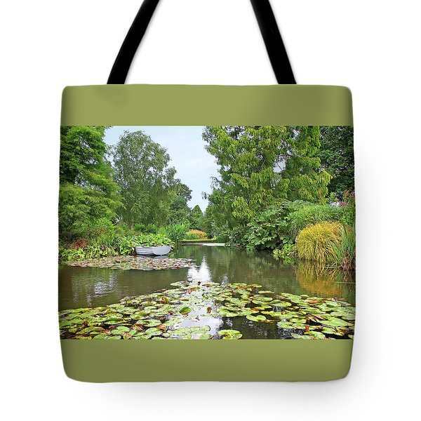 Boat On The Lake Tote Bag by Gill Billington
