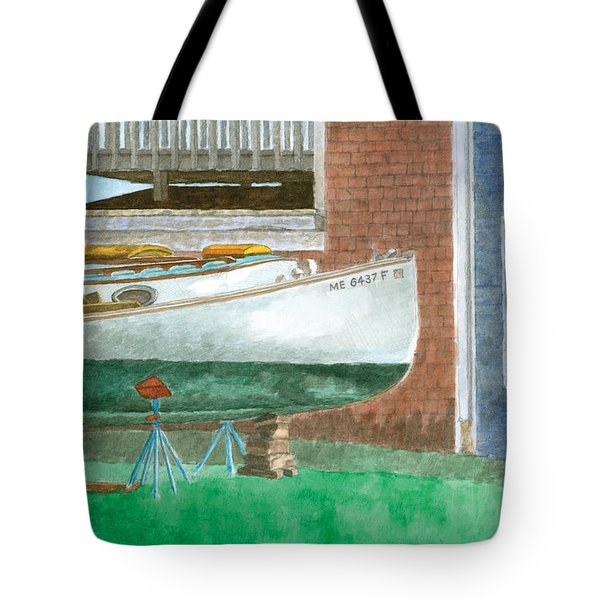 Boat Out Of Water - Portland Maine Tote Bag