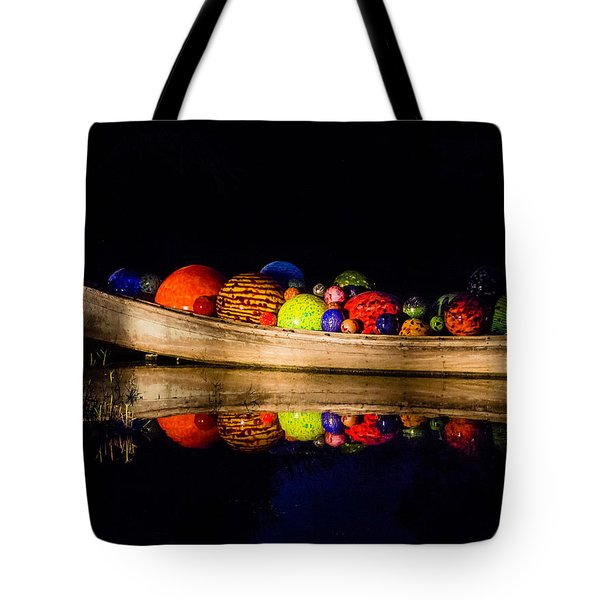 Boat Reflections Tote Bag