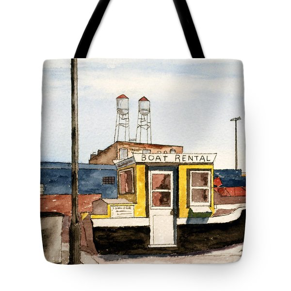 Boat Rental Near Duluth Canal Park Tote Bag by R Kyllo