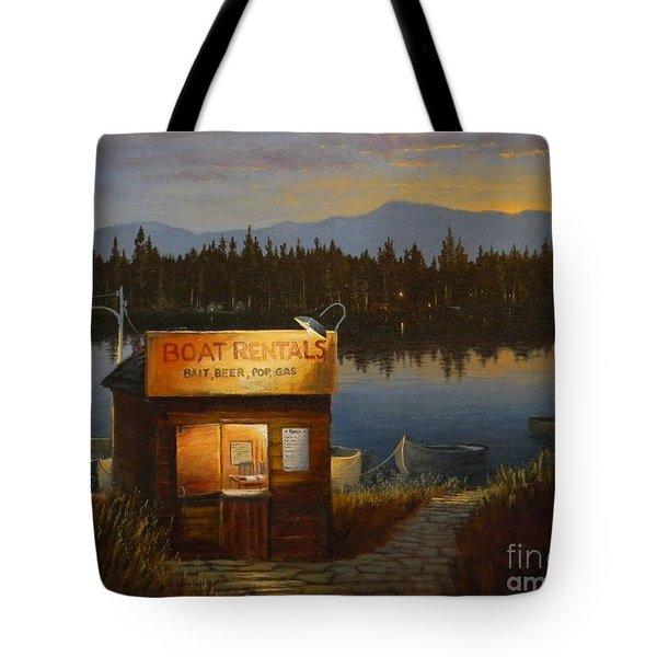 Boat Rentals Tote Bag