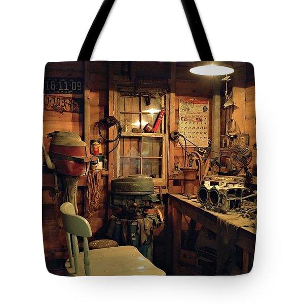 Boat Repair Shop Tote Bag