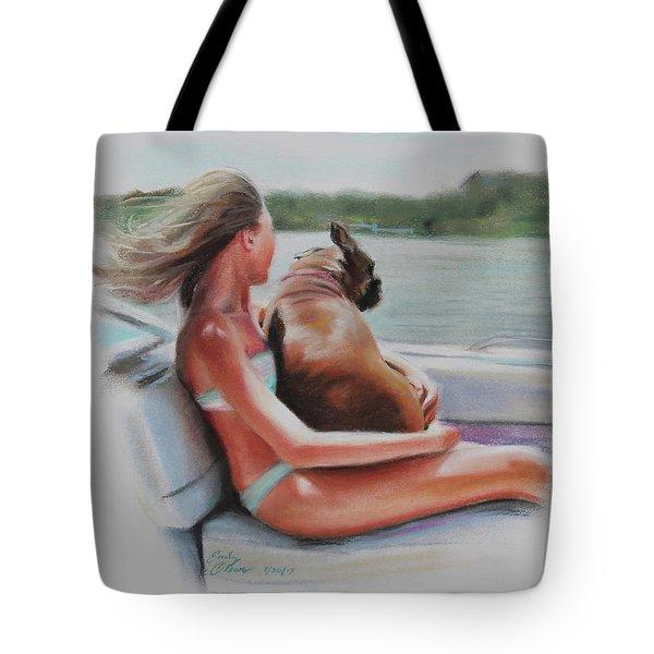 Boat Ride Companions Tote Bag